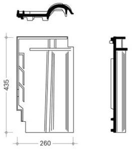 Схема керамической черепицы Сапфир