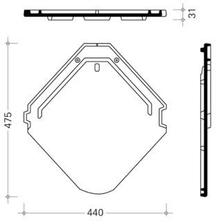 Схема черепицы Изумруд
